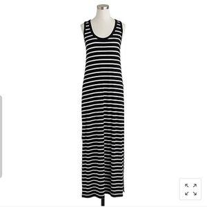 J.Crew Maxi Striped Sleeveless Tank Dress slits